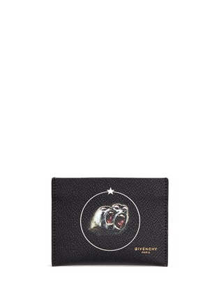Main View - Click To Enlarge - Givenchy - 'Monkey Brothers' faux leather cardholder