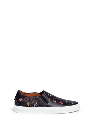 Main View - Click To Enlarge - GIVENCHY - Monkey print leather skate slip-ons
