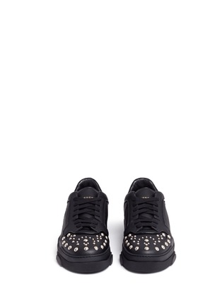 Front View - Click To Enlarge - Givenchy - 'Tyson' stud leather sneakers