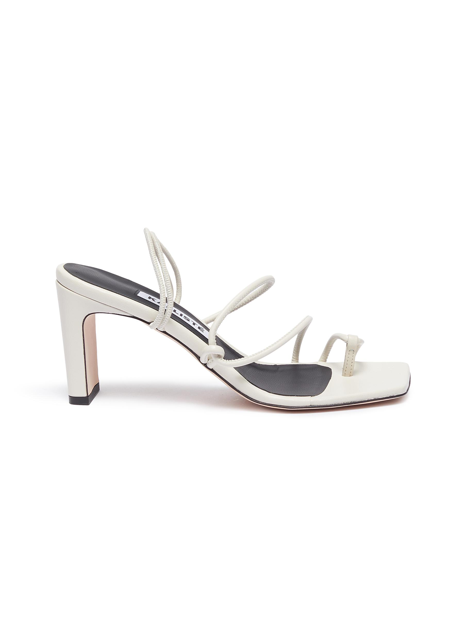 Kalliste Mid Heels Strappy Toe Ring Slingback Sandals