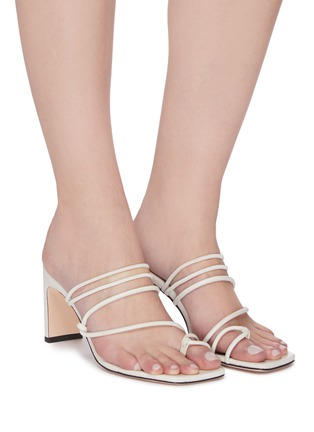 Figure View - Click To Enlarge - KALLISTE - Strappy Toe Ring Slingback Sandals