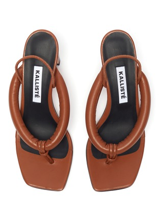Detail View - Click To Enlarge - KALLISTE - Puffy Strap Thong Sandals