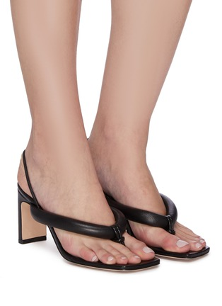Figure View - Click To Enlarge - KALLISTE - Puffy Strap Thong Sandals