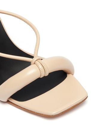 Detail View - Click To Enlarge - KALLISTE - Puffy Strap Square Toe Sandals