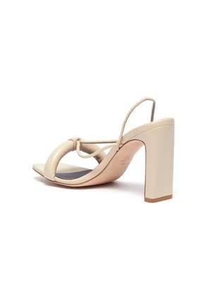 - KALLISTE - Puffy Strap Square Toe Sandals