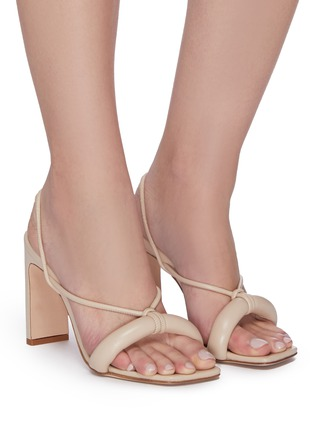 Figure View - Click To Enlarge - KALLISTE - Puffy Strap Square Toe Sandals
