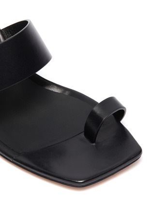 Detail View - Click To Enlarge - KALLISTE - Toe Ring leather Mules