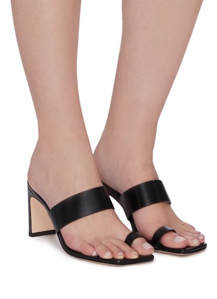 Figure View - Click To Enlarge - KALLISTE - Toe Ring leather Mules
