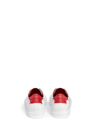 Back View - Click To Enlarge - Givenchy - 'Urban Street' knot collar leather sneakers