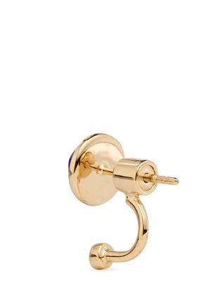 Detail View - Click To Enlarge - Pamela Love - 'Gravitation' diamond pavé 18k gold lapis earrings
