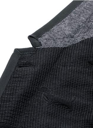 Detail View - Click To Enlarge - Thom Browne - 'Hector' wool stamp jacquard blazer