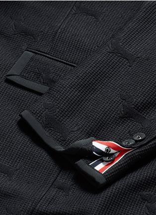 - Thom Browne - 'Hector' wool stamp jacquard blazer