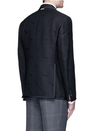Back View - Click To Enlarge - Thom Browne - 'Hector' wool stamp jacquard blazer