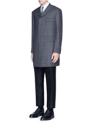 Figure View - Click To Enlarge - Thom Browne - 'Hector' wool stamp jacquard pants