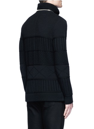Back View - Click To Enlarge - Givenchy - Detachable turtleneck wool-cotton sweater