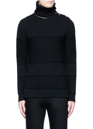 Main View - Click To Enlarge - Givenchy - Detachable turtleneck wool-cotton sweater