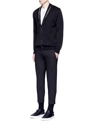 Figure View - Click To Enlarge - Givenchy Beauty - Ribbon trim geometric jacquard cardigan