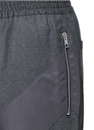 Detail View - Click To Enlarge - Givenchy - Diagonal panel flannel pants