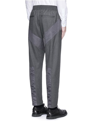 Back View - Click To Enlarge - Givenchy - Diagonal panel flannel pants