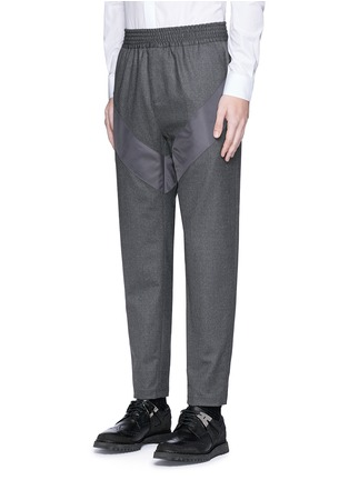 Front View - Click To Enlarge - Givenchy - Diagonal panel flannel pants