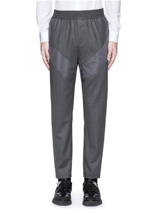 Main View - Click To Enlarge - Givenchy - Diagonal panel flannel pants