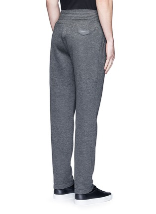 Back View - Click To Enlarge - Givenchy Beauty - Logo patch bonded jersey sweatpants