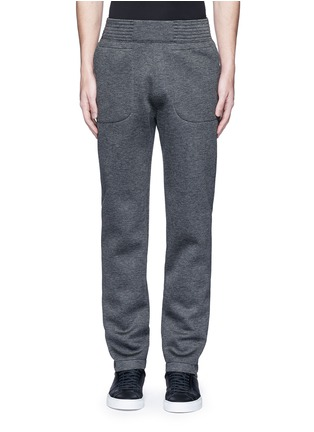 Main View - Click To Enlarge - Givenchy Beauty - Logo patch bonded jersey sweatpants