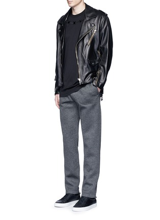 Figure View - Click To Enlarge - Givenchy Beauty - Logo patch bonded jersey sweatpants