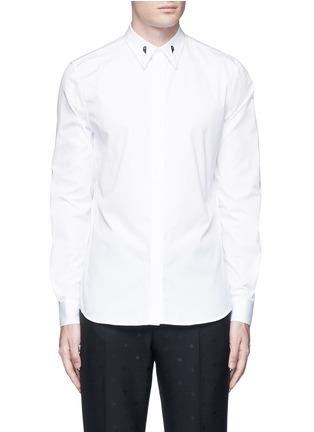 Main View - Click To Enlarge - Givenchy - Star engraved collar bone poplin shirt