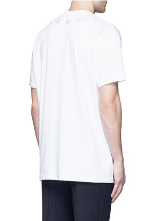Back View - Click To Enlarge - Givenchy - Barb wire embroidery T-shirt
