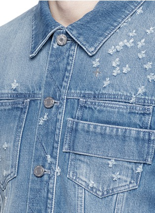 Detail View - Click To Enlarge - Givenchy Beauty - Distressed denim jacket