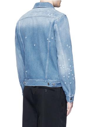 Back View - Click To Enlarge - Givenchy Beauty - Distressed denim jacket