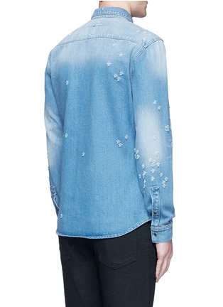 Back View - Click To Enlarge - Givenchy Beauty - Distressed denim shirt