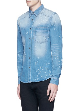 Front View - Click To Enlarge - Givenchy Beauty - Distressed denim shirt