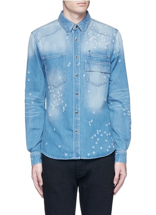 Main View - Click To Enlarge - Givenchy Beauty - Distressed denim shirt