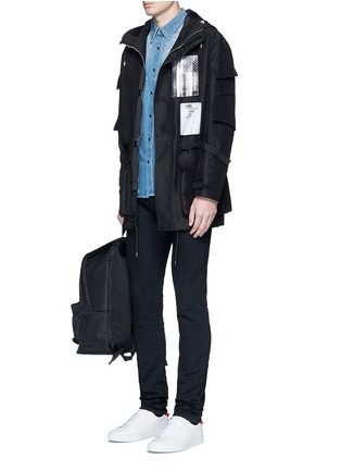 Figure View - Click To Enlarge - Givenchy Beauty - Distressed denim shirt