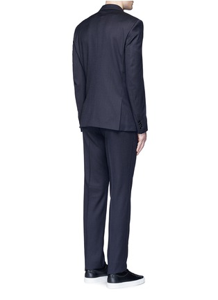 Back View - Click To Enlarge - Givenchy - Madonna collar gingham check wool suit