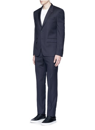 Figure View - Click To Enlarge - Givenchy - Madonna collar gingham check wool suit
