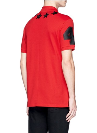 Back View - Click To Enlarge - Givenchy Beauty - Star patch polo shirt