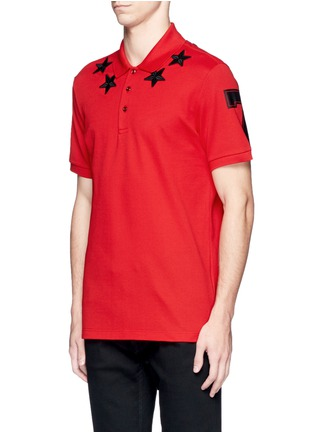 Front View - Click To Enlarge - Givenchy Beauty - Star patch polo shirt