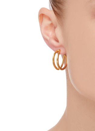 Figure View - Click To Enlarge - W. BRITT - 'O' 18K Gold Earrings