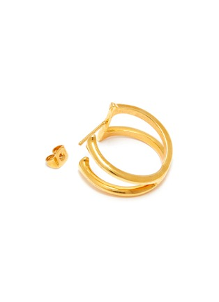 Detail View - Click To Enlarge - W. BRITT - 'X' 18K Gold Earrings