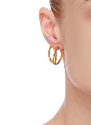Figure View - Click To Enlarge - W. BRITT - 'X' 18K Gold Earrings