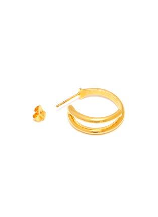 Detail View - Click To Enlarge - W. BRITT - 'J' 18K Gold Earrings