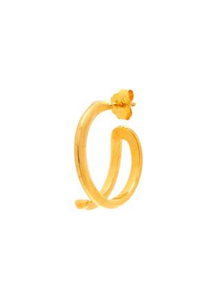 Main View - Click To Enlarge - W. BRITT - 'J' 18K Gold Earrings