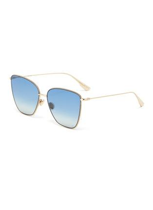 Main View - Click To Enlarge - DIOR - Cat-eye metal frame gradient sunglasses