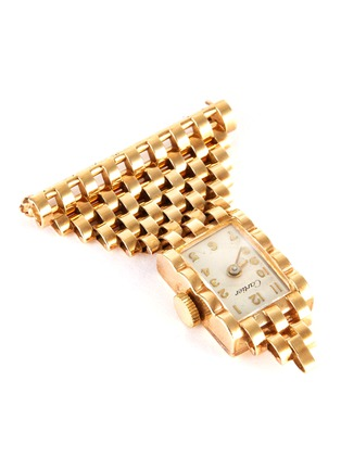 Detail View - Click To Enlarge - PALAIS ROYAL - Cartier 'American' 14k gold watch brooch