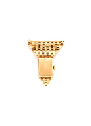 Back View - Click To Enlarge - PALAIS ROYAL - Cartier 'American' 14k gold watch brooch