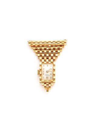 Main View - Click To Enlarge - PALAIS ROYAL - Cartier 'American' 14k gold watch brooch