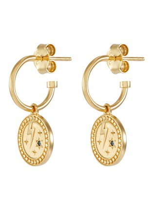 Main View - Click To Enlarge - MEADOWLARK - 'Amulet Strength' sapphire gold-plated earrings